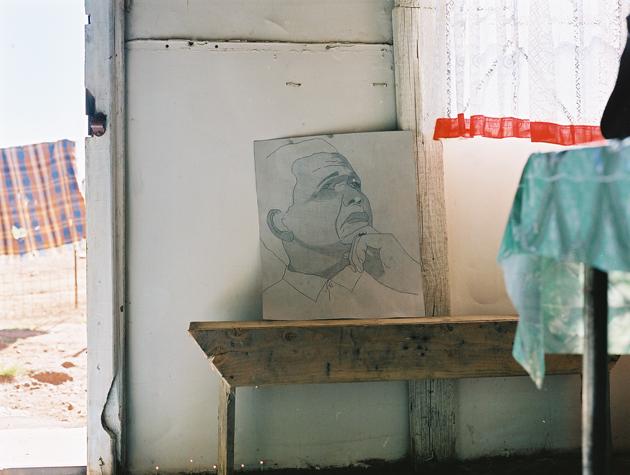 Foto: Mandela Zeichnung in Sijathemba (Gauteng), Philine von Sell