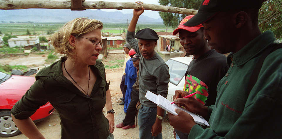 Foto: Philine beim Talent-Scounting, Tshepo Tsotetsi